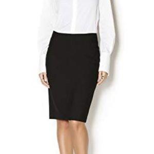 Trina Turk Black Draped Accent Pencil Skirt